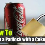 How To Open a Padlock with an Aluminum Can