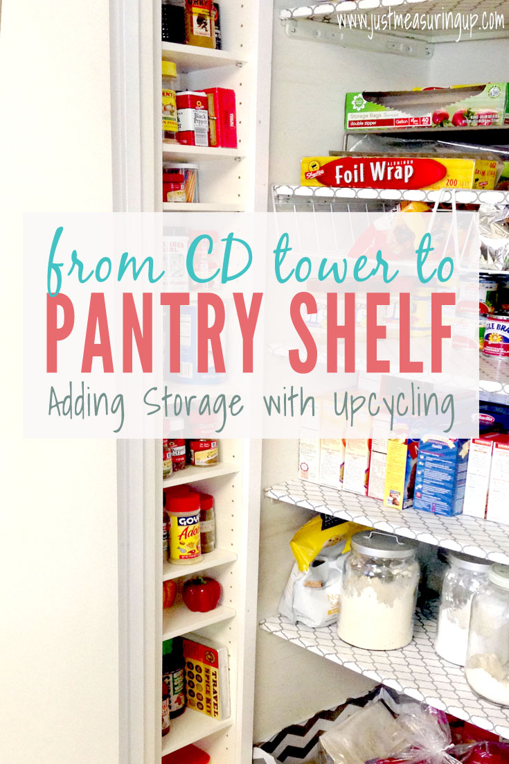 Pantry Storage Ideas Repurposing A Cd Tower Into A